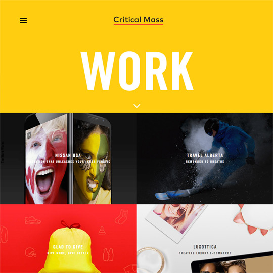 Critical Mass digital and web design agency