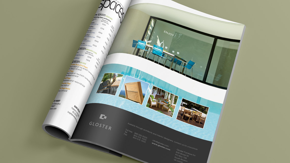 Garden Furniture Advertising Design