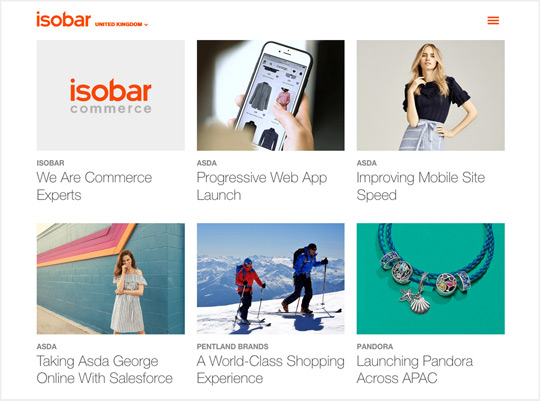 Isobar digital and web design agency
