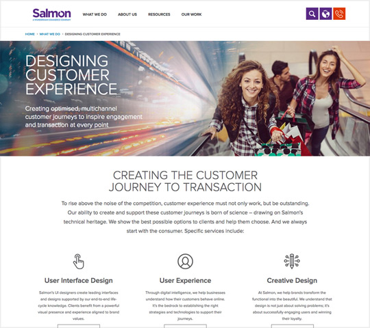 Salmon digital and web design agency