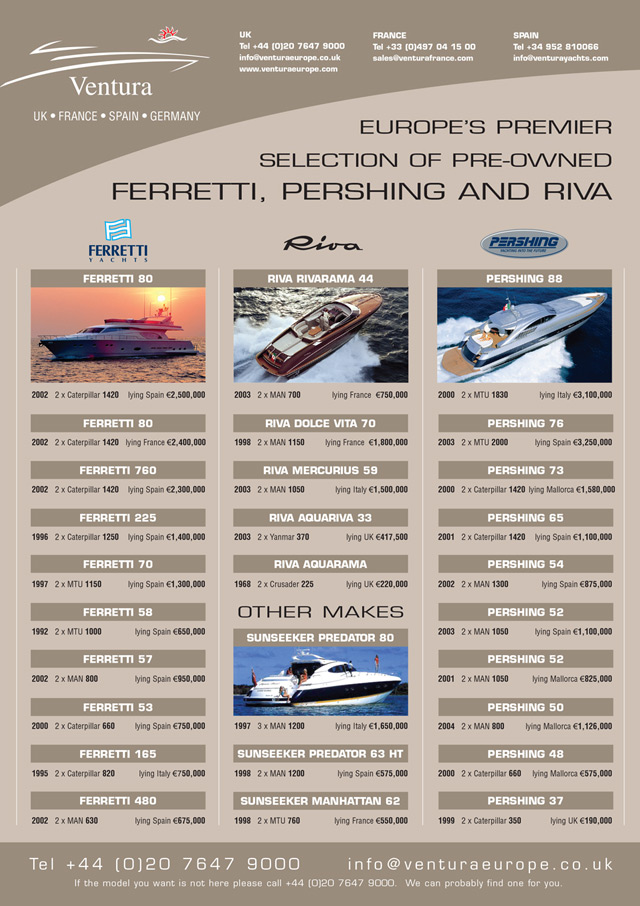 Yacht advertising design 1